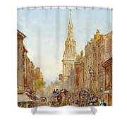 View Of Church Of Mary Shower Curtain