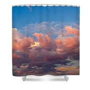 View Of Clouds In The Sky Shower Curtain
