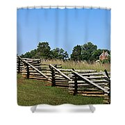 View Of Clover Hill Tavern Appomattox Court House Virginia Shower Curtain