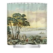View Of Constantinople From The Marmara Sea Shower Curtain