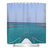 View Of Coral Shower Curtain