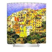 View Of Corniglia - Cinque Terre Shower Curtain