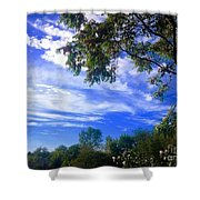 View Of Countryside In Frederick Maryland In Summer Shower Curtain