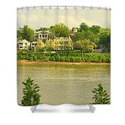 View Of Covington Kentucky Shower Curtain