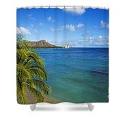 View Of Diamond Head Shower Curtain