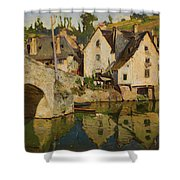 View Of Dinan Shower Curtain