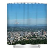 View Of Downtown Portland Oregon From Pittock Mansion Shower Curtain