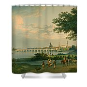 View Of Dresden Shower Curtain