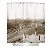 View Of Foothill Orchards. This View Of Orchards In The Foothill Shower Curtain