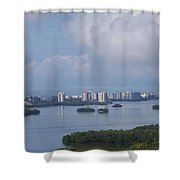 View Of Fort Myers Beach Shower Curtain