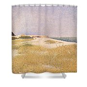View Of Fort Samson Shower Curtain by Georges Pierre Seurat