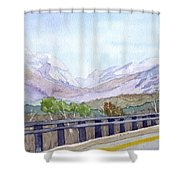 View Of Franconia Notch Shower Curtain