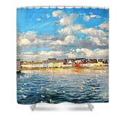 View Of Galway Harbour Shower Curtain