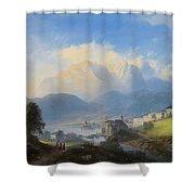View Of Gmunden On Traunsee Shower Curtain