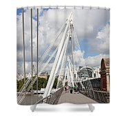 View Of Golden Jubilee Bridge, Thames Shower Curtain