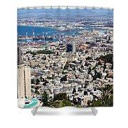 View Of Haifa Shower Curtain