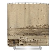 View Of Houtewael Near The Sint Anthoniespoort [recto] Shower Curtain