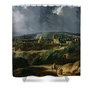 View Of Jerusalem From The Valley Of Jehoshaphat Shower Curtain