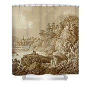 View Of Karlsbad In The Foreground A Young Mother With Her Children Shower Curtain