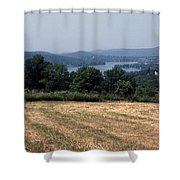 View Of Lake Waramaug Shower Curtain