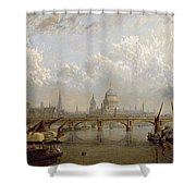 View Of London  Shower Curtain