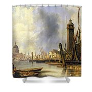 View Of London With St Paul's Shower Curtain