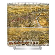 View Of Los Angeles, 1894 Shower Curtain