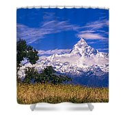 View Of Machhapuchhare From Sarangkot Shower Curtain