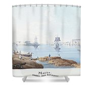 View Of Malta Shower Curtain