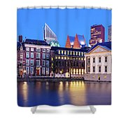 View Of Mauritshuis And The Hofvijver - The Hague Shower Curtain