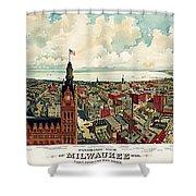 View Of Milwaukee 1898 Shower Curtain