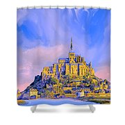 View Of Mont Saint Michel Shower Curtain