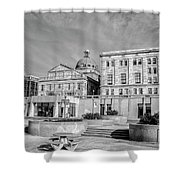 View Of Montgomery County Courthouse From The Southside In Black Shower Curtain