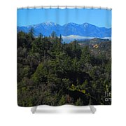 View Of Mount Baldy From The San Bernardino Mountains Shower Curtain