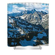 View Of Mountains, Table Mountain Shower Curtain