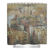 View Of New York City Shower Curtain