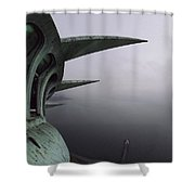 View Of New York Harbor From The Top Shower Curtain