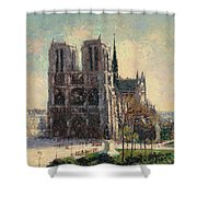 View Of Notre Shower Curtain