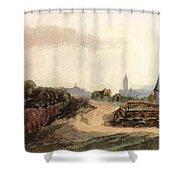 View Of Nuremberg 1497 Shower Curtain