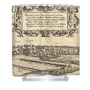 View Of Nuremberg From The West [left Section] Shower Curtain