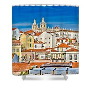 View Of Old Alfama Shower Curtain