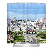 View Of Old Town Havana Shower Curtain