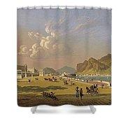 View Of Palermo 1845, Robert Salmon Shower Curtain