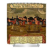 View Of Philadelphia 1729 Shower Curtain
