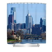 View Of Phliadelphia From West River Drive. Shower Curtain