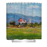 View Of Pisa From Countryside Shower Curtain