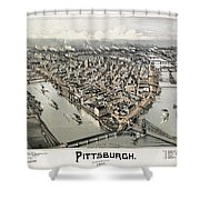 View Of Pittsburgh, 1902 Shower Curtain