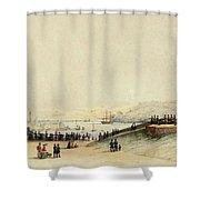 View Of Plymouth Hoe Shower Curtain