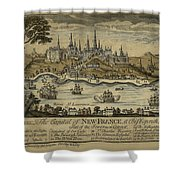 View Of Quebec City 1759 Shower Curtain