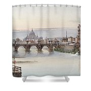 View Of Rome Shower Curtain by I Martin